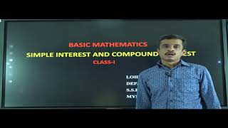 I PUC | BASIC MATHS | SIMPLE INTEREST AND COMPOUND INTEREST - 01