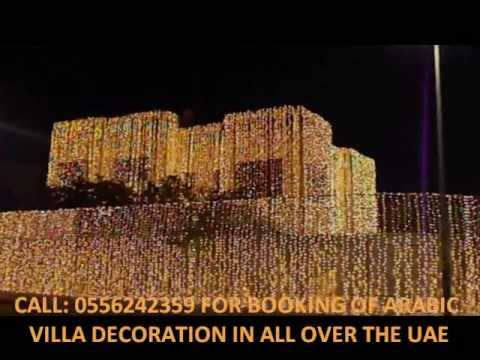 ARABIC WEDDING DECORATION LIGHT DUBAI VILLA