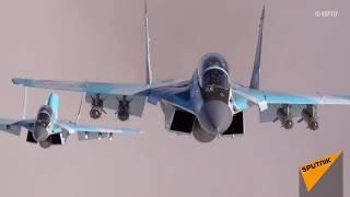 Кадры испытаний новейших истребителей МиГ-35