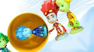 Фиксики. Мультик из игрушек. Все герои мультфильма Фиксики открывают сюрпризы.