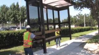 Metro Bus Shelter located at 6402 Market Houston Texas