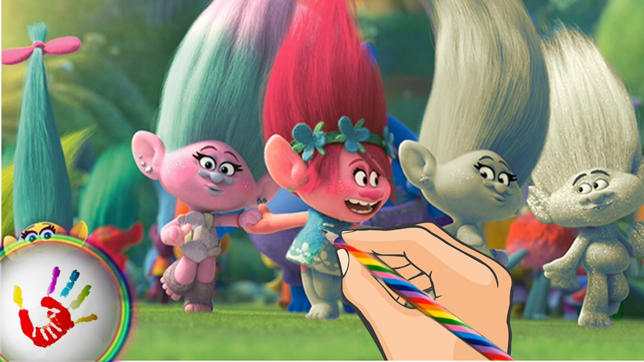 Coloring Pages Trolls : Trolls princess poppy smidge satin and chenille guy diamond