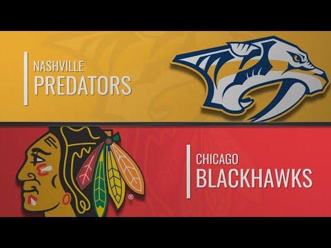 Нэшвилл - Чикаго | НХЛ обзор матчей 09.01.2020 | Nashville Predators Vs Chicago Blackhawks
