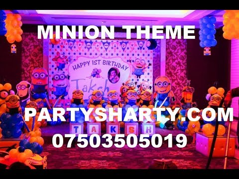 Minion themed party in west delhi