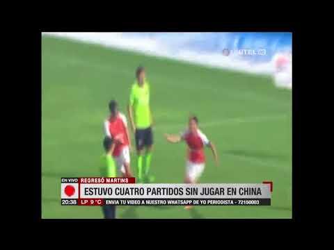 Marcelo Martins reapareció en el Wuhan Zall