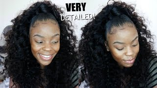 Half Up Half Down Quickweave (NO LEAVE OUT PROTECTIVE STYLE) Ft. Klaiyi Hair