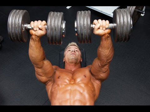 ejercicios para pecho y triceps con mancuernas
