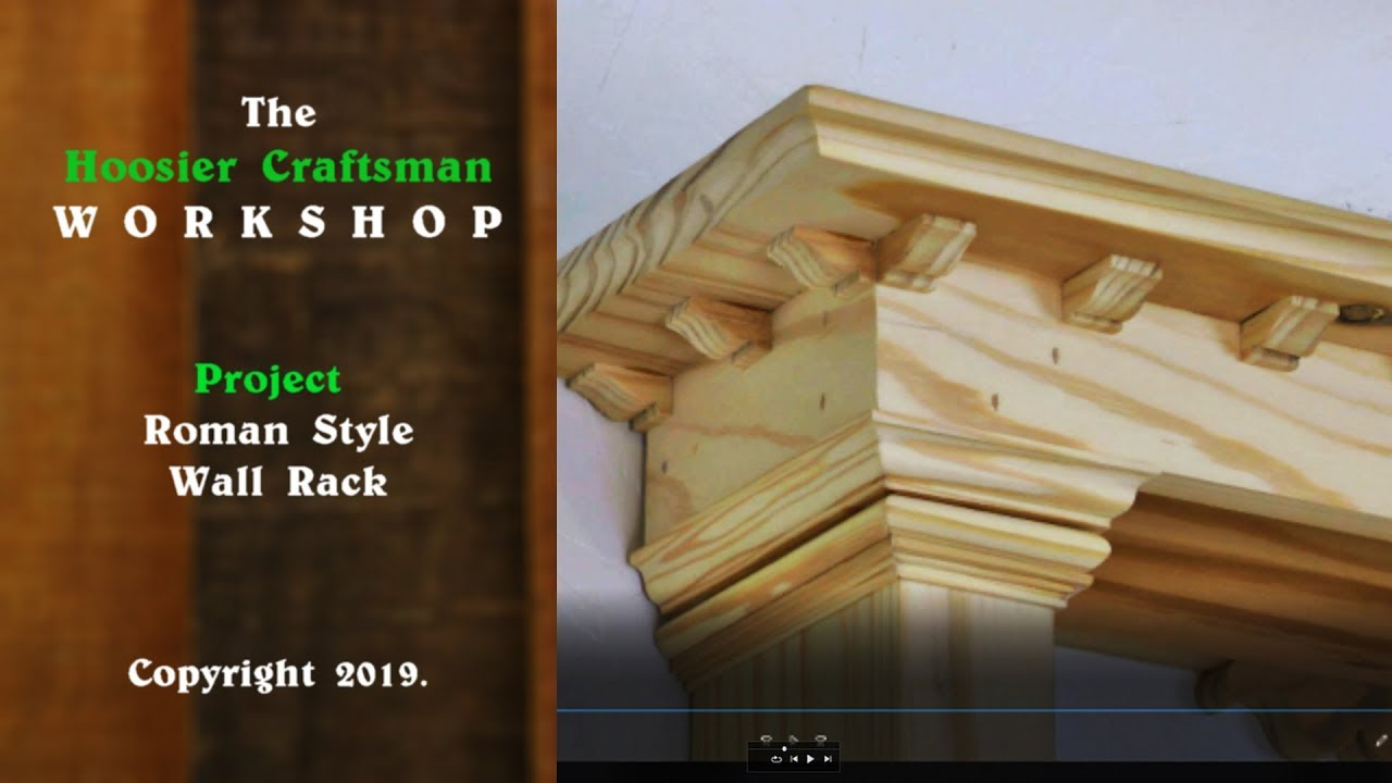 Classic Woodworking Project ! Classic Greek Style Wall Shelf / Wall Rack / Wall Shelves. - YouTube