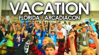 vLogdotzip | SLEEPING WITH LACHLAN | Minecraft Vacation Vlog Part 1 (ArcadiaCon, Florida)