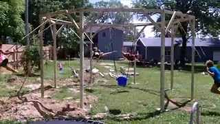 Awesome Homemade Swingset
