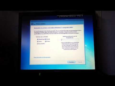 windows 7 schone installatie en activatie updates & drivers installeren nederlands (Dutch)