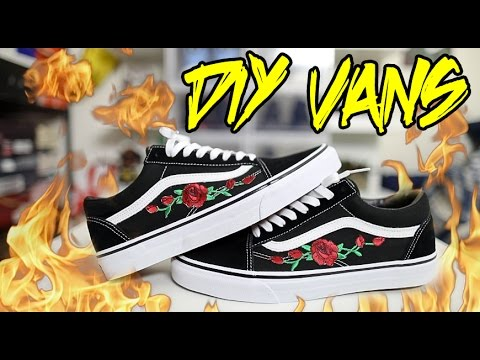 10f129d96368 DIY ROSE PATCH VANS TUTORIAL!!! - YouTube