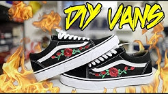 DIY ROSE PATCH VANS TUTORIAL!!!
