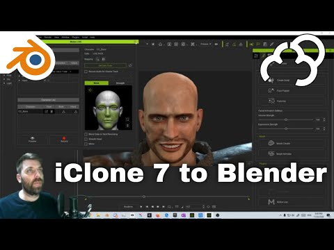 Reallusion IClone 7 Facial Motion Capture Motion Live To Blender