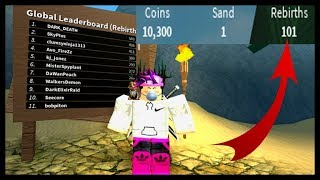 Roblox-CHEGANDO A 100 RENASCIMENTOS NO ⟪ Treasure Hunt Simulator ⟫