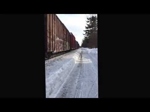 Newmarket NH CSX Freight Train March 8 2015