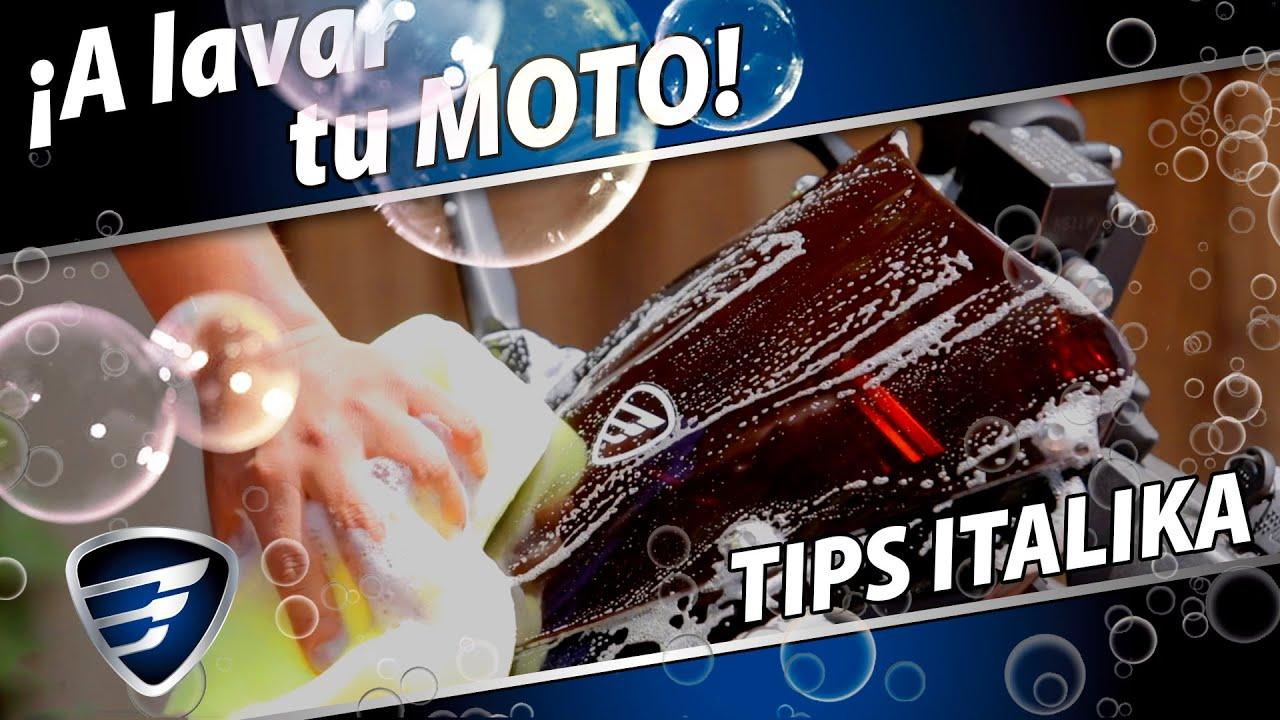 🚿🛁 Cómo LAVAR tu MOTOCICLETA ITALIKA 🛁🚿