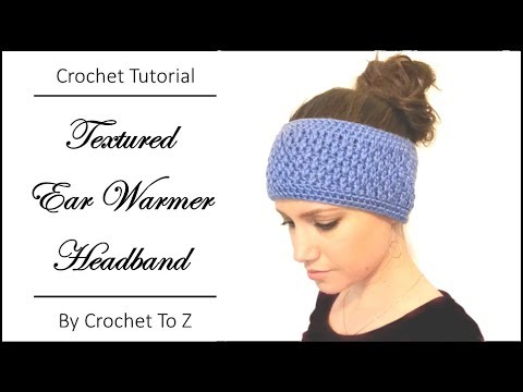 Textured Ear Warmer Headband Crochet Tutorial Youtube