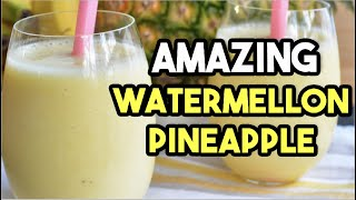 Watermelon Pineapple And Strawberry Smoothie - Smoothie Recipes