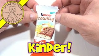 Kinder Country Milk Cream Filled Chocolate With Puffed Rice Candy Bar
