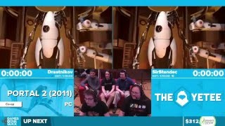 Portal 2 by Drastnikov, SirStendec in 59:23 - Awesome Games Done Quick 2016 - Part 53