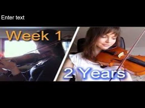 Adult beginner violinist - 2 years progress video