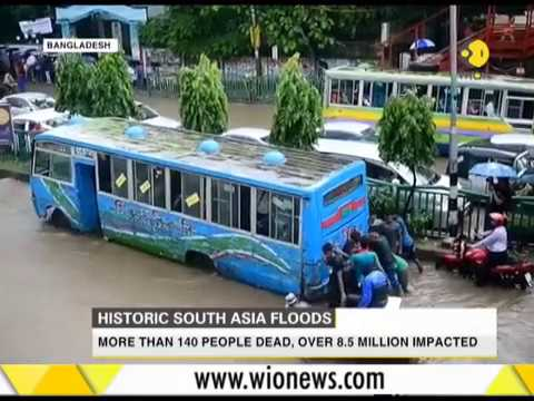 South Asia Floods: More than 1000 people dead, over 8.5 million affected