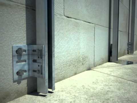 Fachada ventilada sb fijaciones sistema 300 25 90 youtube - Placas de piedra natural ...
