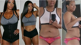 MY 45 LB WEIGHT LOSS  INTERMITTENT FASTING  WORKOUT ROUTINE WAIST TRAINING TO LOSE INCHES  TASTEPINK