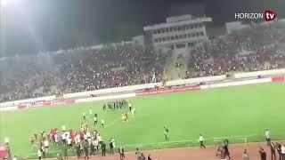 مشادات بين الفريق الوطني وفريق جزر القمر بعد نهاية المباراة