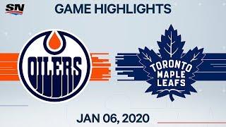 NHL Highlights   Oilers vs Maple Leafs – Jan. 6, 2020