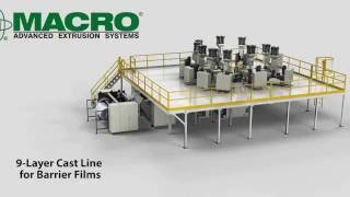 9 Layer Cast Film Coextrusion Line for Barrier Films Thumbnail