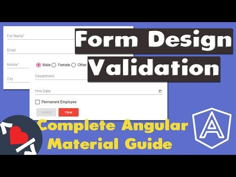 Build Angular Material App  - CRUD Form Design