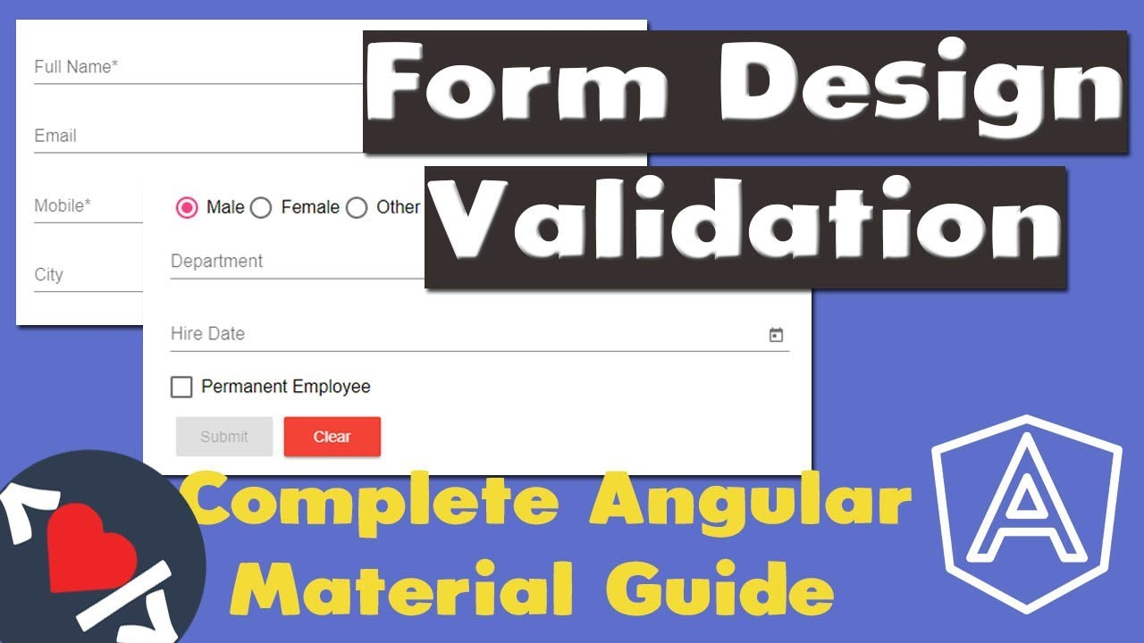 Complete Angular Material Tutorial - CRUD Form Design