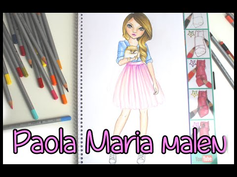 Topmodel Malbuch | How to draw | Paola Maria malen | Copics || Foxy Draws