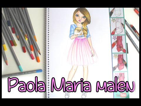 Topmodel Malbuch | How to draw | Paola Maria malen | Copics || Foxy ...