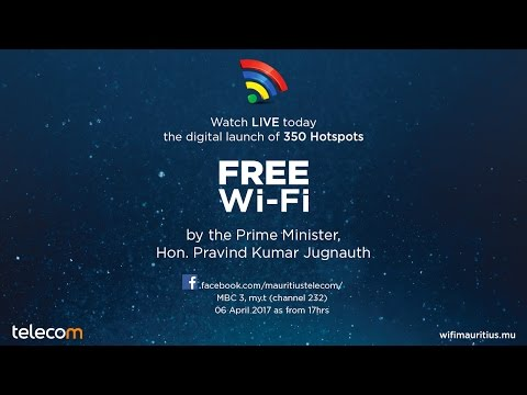 Launching ceremony of Wi-Fi Mauritius