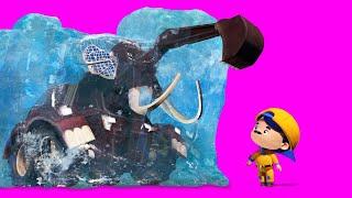 АнимаКары - РОЖДЕСТВО : Джонни находит МАМОНТА - мультфильмы для детей с машинами и животными