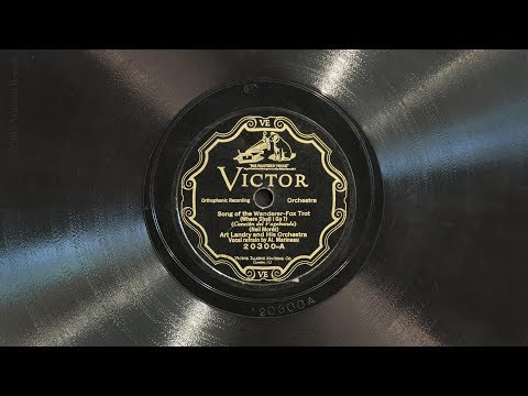 Song of the Wanderer • Art Landry and His Orchestra (EMG Mark IX Gramophone)
