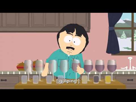 Randy Marsh Chugging beer