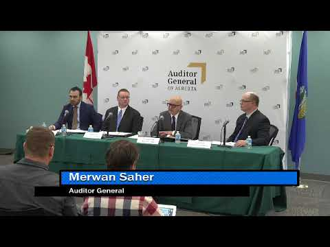 News Conference - Report of the Auditor General of Alberta - February 2018