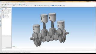 Компас 3D уроки - сборка и анимация коленвала (UA)