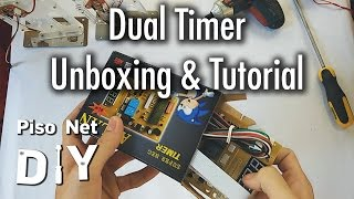Repeat youtube video Pisonet DIY: Dual Timer Unboxing and Tutorial [Tagalog]