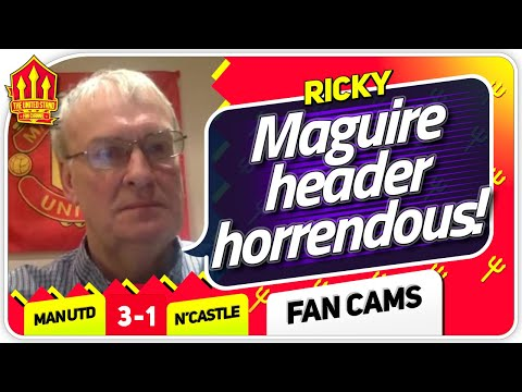 RICKY! SCHOLES HARSH ON DE GEA! Manchester United 3-1 Newcastle Fan Cam