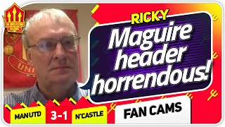 RICKY! SCHOLES HARSH ON DE GEA! Manchester United 3-1 Newcastle Fan Cam