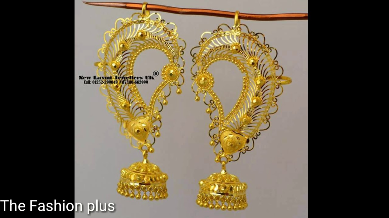 Latest Pure Gold Earrings Designs - YouTube