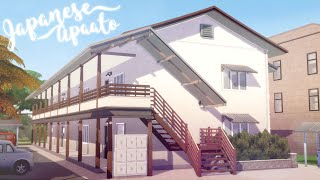 Apaato アパート a Traditional Japanese Apartment 👩‍👦🏚️| Redesign Newcrest #6 | The Sims 4 | No CC