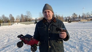 Радиоуправляемая машинка Traxxas 1/16 E-Revo AWD VXL Brushless по снегу просто класс