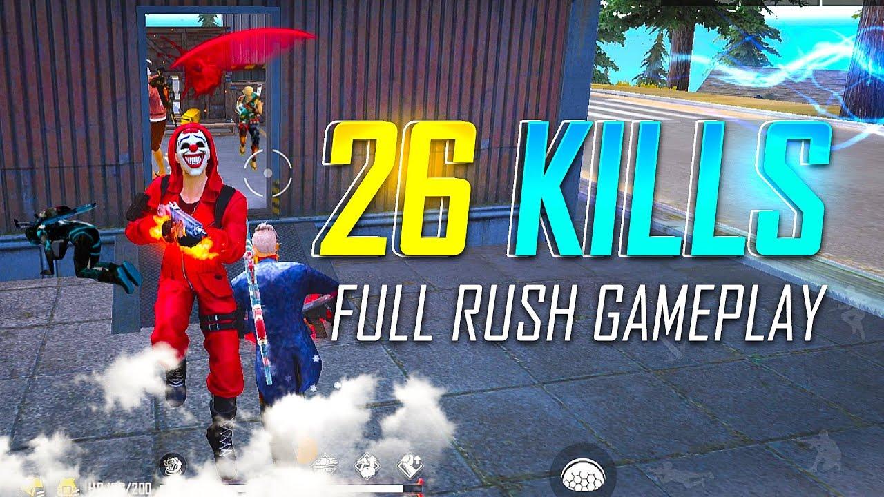 Badge99 Unstoppable Rush Gameplay 26 Kills - Garena Free Fire