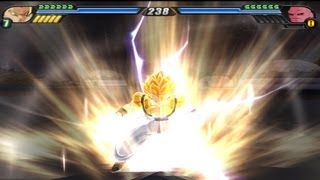 Gogeta transforms into a Super Saiyan 4 to defeat Super Buu and Broly (DBZ Budokai Tenkaichi 3)